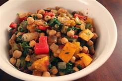 Chickpeas with Carrot & other vege